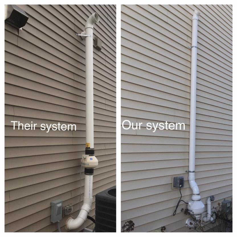 their radon mitigation system vs. our radon mitigation system
