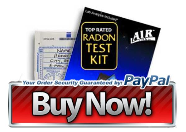 Order your Do-It-Yourself radon gas test kit!